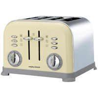 Morphy Richards  4 Slice Toaster - Cream