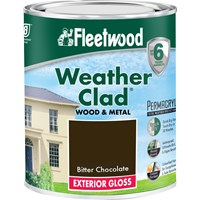 Fleetwood Weather Clad Exterior Gloss Colours Paint - 750ml