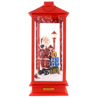 Jingles  Snowing Santa Christmas Lantern with Music & LED Lights - 49cm