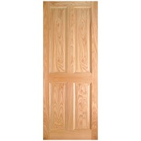 InDoors  Lawrence 4 Panel Interior Oak Door - Pre-finished